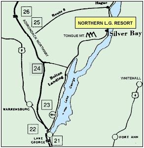 Lake George Resort Map